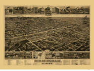 Birmingham, Alabama 1885 Bird's Eye View