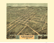 Huntsville, Alabama 1871 Bird's Eye View