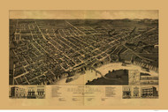 Selma, Alabama 1887 Bird's Eye View