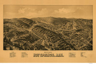 Hot Springs, Arkansas 1888 Bird's Eye View