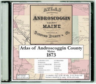 Atlas of Androscoggin County, Maine, 1873, CDROM Old Map