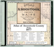 Atlas of Aroostook County, Maine, 1877, CDROM Old Map