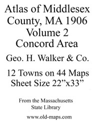 Intro Sheet, 1906 - Old Street Map Reprint - Middlesex Co. Atlas Vol.2 - Concord to Wakefield
