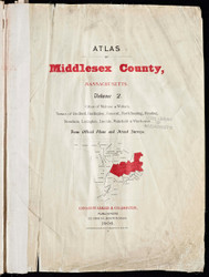 Title Page, 1906 - Old Street Map Reprint - Middlesex Co. Atlas Vol.2 - Concord to Wakefield