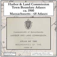Massachusetts Harbor & Land Commission Boundary Atlases, ca. 1900 on CDROM