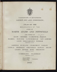 1 - North Adams, Etc., ca. 1900 - Massachusetts Harbor & Land Commission Boundary Atlas Digital Files