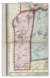 Bellingham, Massachusetts 1858 Old Town Map Custom Print - Norfolk Co.