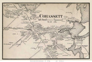 Cohassett Village, Massachusetts 1858 Old Town Map Custom Print - Norfolk Co.