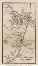 South Dedham Village, Massachusetts 1858 Old Town Map Custom Print - Norfolk Co.