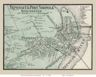 Neponset and Port Norfolk Villages, Massachusetts 1858 Old Town Map Custom Print - Norfolk Co.