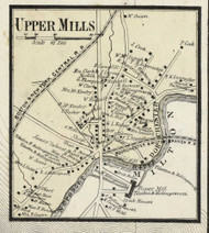 Dorchester and Upper Mills Villages, Massachusetts 1858 Old Town Map Custom Print - Norfolk Co.