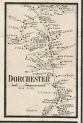 Dorchester Village, Massachusetts 1858 Old Town Map Custom Print - Norfolk Co.
