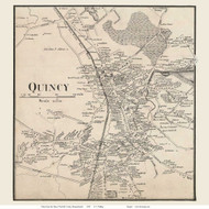 Quincy Village, Massachusetts 1858 Old Town Map Custom Print - Norfolk Co.
