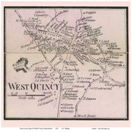 West Quincy, Massachusetts 1858 Old Town Map Custom Print - Norfolk Co.