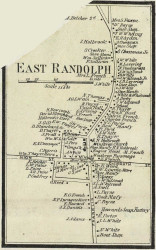 East Randolph Village, Massachusetts 1858 Old Town Map Custom Print - Norfolk Co.