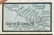 South Randolph Village, Massachusetts 1858 Old Town Map Custom Print - Norfolk Co.