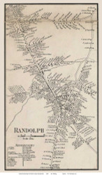 Randolph Village, Massachusetts 1858 Old Town Map Custom Print - Norfolk Co.