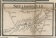 Sheldonville Village, Massachusetts 1858 Old Town Map Custom Print - Norfolk Co.