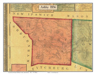 Ashby, Massachusetts 1856 Old Town Map Custom Print - Middlesex Co.