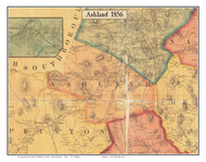 Ashland, Massachusetts 1856 Old Town Map Custom Print - Middlesex Co.