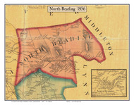 North Reading, Massachusetts 1856 Old Town Map Custom Print - Middlesex Co.