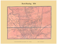 South Reading Village, Massachusetts 1856 Old Town Map Custom Print - Middlesex Co.