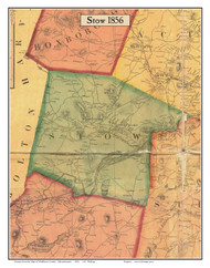 Stow, Massachusetts 1856 Old Town Map Custom Print - Middlesex Co.