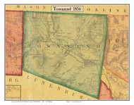 Townsend, Massachusetts 1856 Old Town Map Custom Print - Middlesex Co.