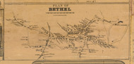 Bethel Village, Connecticut 1858 Fairfield Co. - Old Map Custom Print