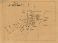 Black Rock, Connecticut 1858 Fairfield Co. - Old Map Custom Print