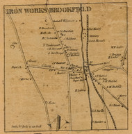 Iron Works Brookfield, Connecticut 1858 Fairfield Co. - Old Map Custom Print