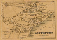 Southport, Connecticut 1858 Fairfield Co. - Old Map Custom Print