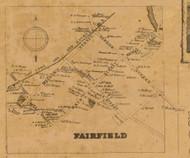 Fairfield Village, Connecticut 1858 Fairfield Co. - Old Map Custom Print