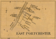 East Portchester, Connecticut 1858 Fairfield Co. - Old Map Custom Print