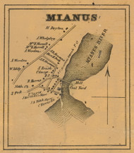 Mianus, Connecticut 1858 Fairfield Co. - Old Map Custom Print