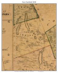 New Fairfield, Connecticut 1858 Fairfield Co. - Old Map Custom Print