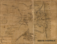 South Norwalk, Connecticut 1858 Fairfield Co. - Old Map Custom Print