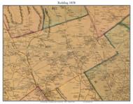 Redding, Connecticut 1858 Fairfield Co. - Old Map Custom Print