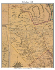 Ridgefield, Connecticut 1858 Fairfield Co. - Old Map Custom Print