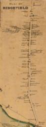 Ridgefield Village, Connecticut 1858 Fairfield Co. - Old Map Custom Print