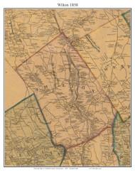 Wilton, Connecticut 1858 Fairfield Co. - Old Map Custom Print