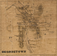 Georgetown, Connecticut 1858 Fairfield Co. - Old Map Custom Print