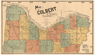 Colbert County Alabama 1896 - Old Map Reprint