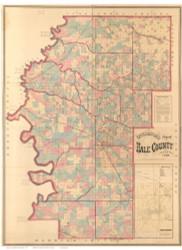 Hale County Alabama 1870 - Old Map Reprint
