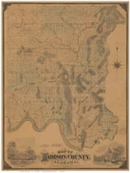 Madison County Alabama 1875 - Old Map Reprint