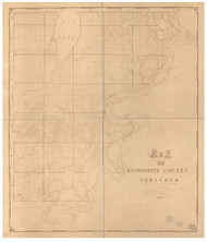 Mississippi County Arkansas 1879 - Old Map Reprint