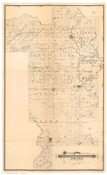 Prairie County Arkansas 1892 - Old Map Reprint