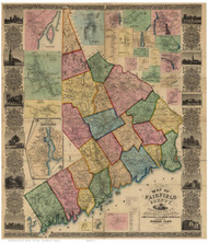 Fairfield County Connecticut 1856 - Old Map Reprint