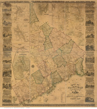 Fairfield County Connecticut 1858 - Old Map Reprint