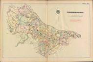 Cambridge Index Map, 1886 - Old Street Map Reprint -Cambridge 1886 Atlas